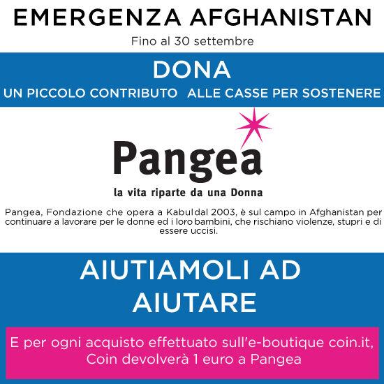 EMERGENZA AFGHANISTAN DONA UN PICCOLO CONTRIBUTO IN STORE E ONLINE