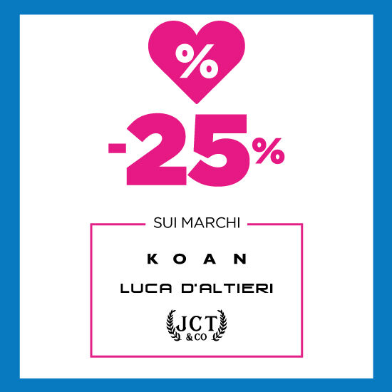 25% DI SCONTO SU KOAN, LUCA D'ALTIERI E JCT&CO
